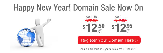 Happy New Year! Domain Sale Now On